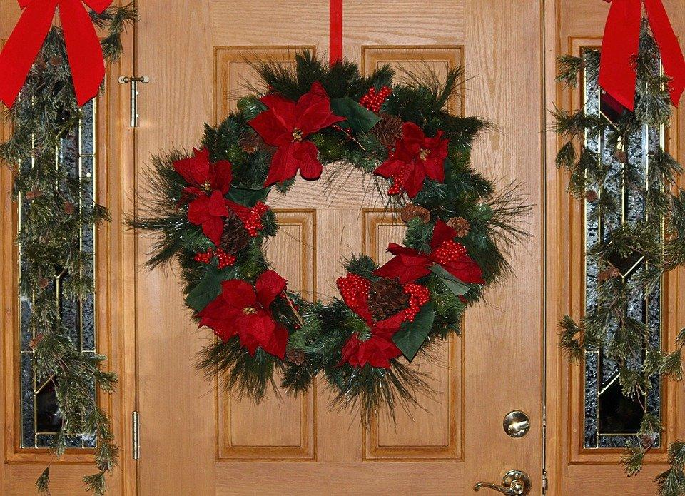 Christmas Wreath, Door Decoration, Holiday