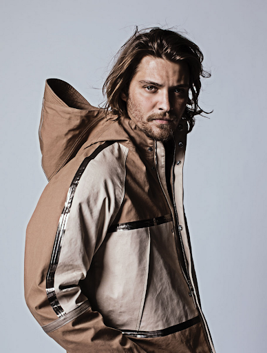 Luke Grimes in Louis Vuitton Taped Blouson