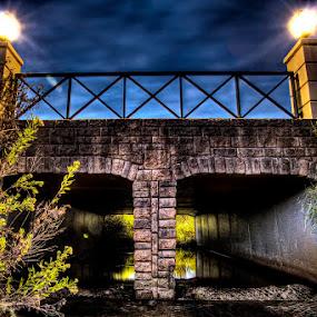 Sunset Bridge by Steven Butler - Buildings & Architecture Bridges & Suspended Structures ( hdr, sunset, bridge, bridges, street bridge )