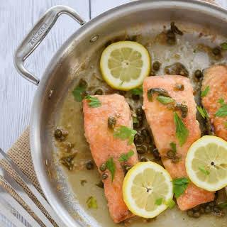 Gluten Free Salmon Piccata.