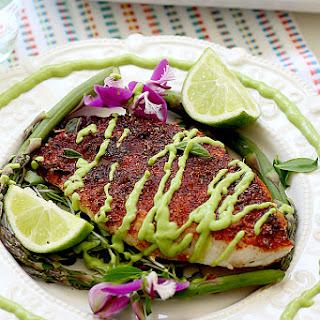 Blackened Rockfish with Avocado Fish Taco Sauce Recipe