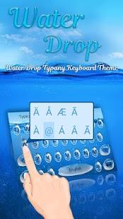 Blue Water Drop Theme&Emoji Keyboard - náhled