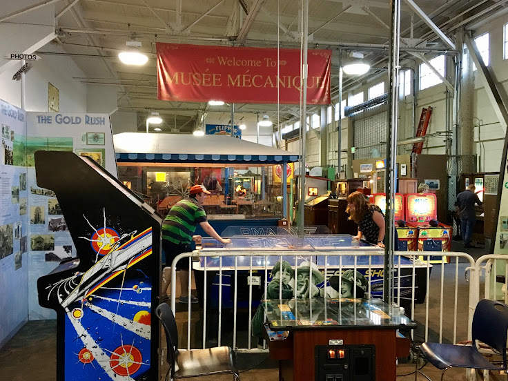 The scene at the Musee Mecanique.