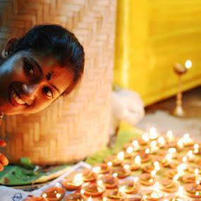 festive smile by Biplab Saha - People Portraits of Women