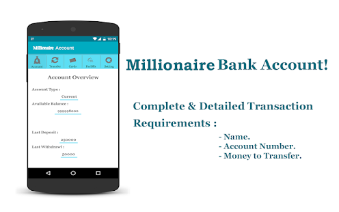 Millionaire Fake Bank Account Apps On Google Play