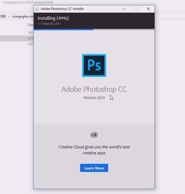 Cài Photoshop CC 2019 Full active