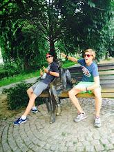 Photo: Ergens vlak bij net internaat, op schoot bij een bekende Hongaar.