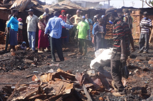 Man burnt to death in Thika slum blaze