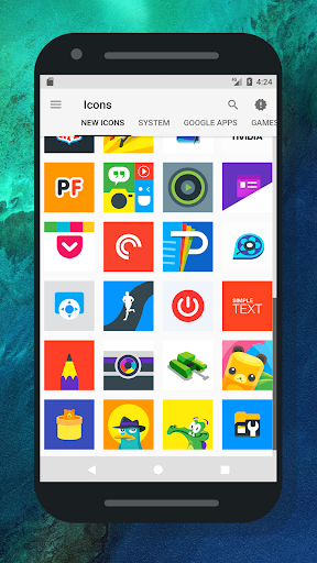 Android下載免費的Nougat Square - Icon Pack 应用 screenshot