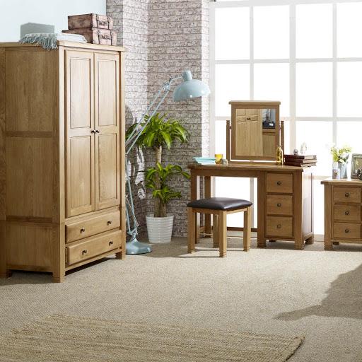 Birlea Woodstock Bedroom Furniture in Grey and Oak