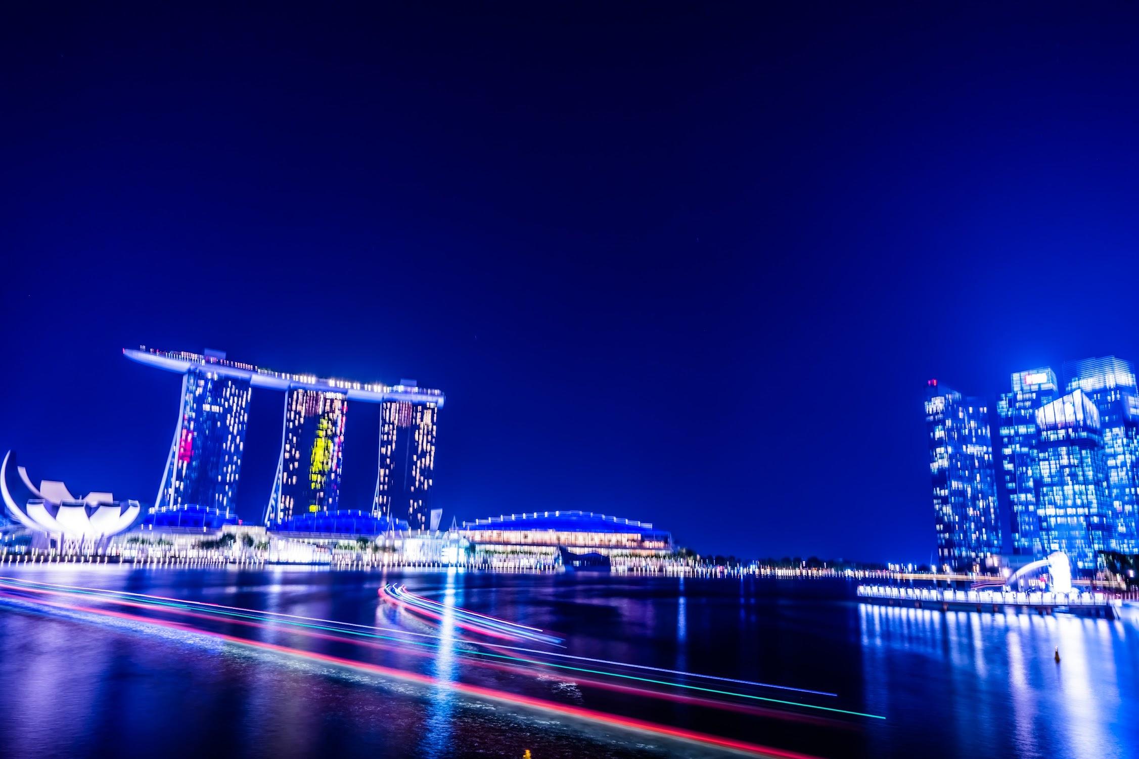 シンガポール マリーナ・ベイ・サンズ 夜景6