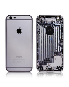 iPhone 6G Housing without small parts HQ Silver