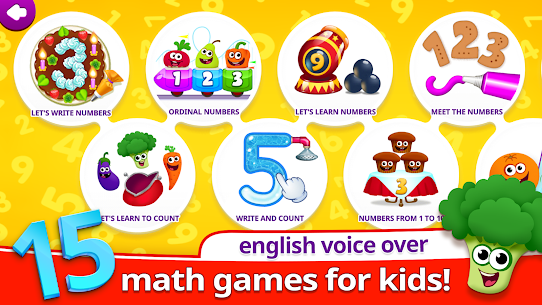 Funny Food 123! Kids Number Games for Toddlers! Mod Apk Download For Android 1