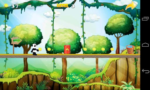 Jungle Panda Run - Jump