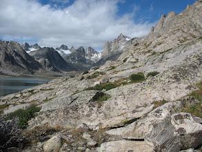 Photo: Looking back at the Titcomb Basin