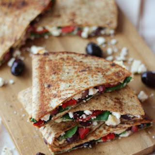 Healthy Vegetarian Middle Eastern Hummus Quesadilla