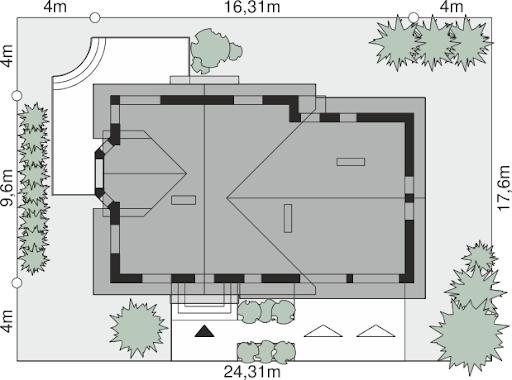 Dom przy Cyprysowej 15 K2 - Sytuacja
