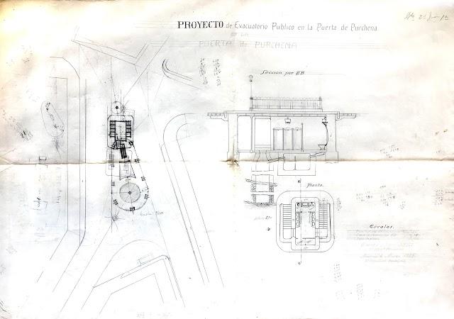 Plano del proyecto del evacuatorio de Puerta de Purchena.