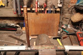 Photo: Halterung für Bügel geschweißt