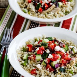 Instant Pot Low-Carb Cauliflower Rice Greek Chicken Bowls.
