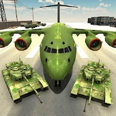 US Army Transport Game - Army Cargo Plane & Tanks
