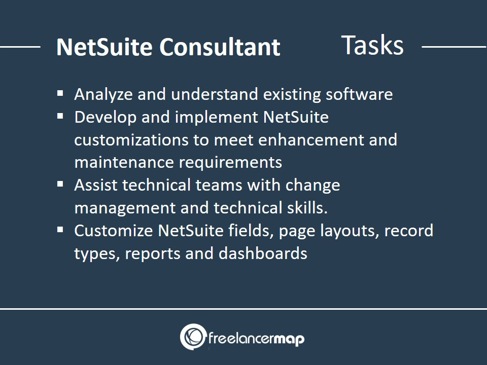 List of responsibilities and tasks of a NetSuite Consultant