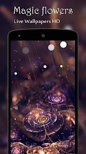 Magic flowers Live Wallpaper - náhled