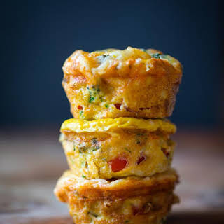 Grab-and-go High-protein Veggie Egg Cups.