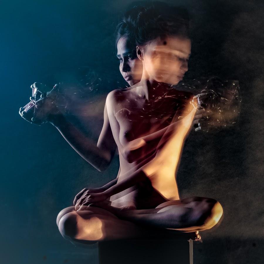 Playing Dambaru by Bihong Kollogov - Digital Art People ( music, color, fine art, shiva, nude, indian, slow shutter )