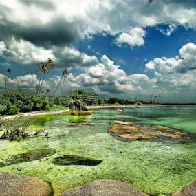 Stone beach @ Belitung by Sigit Setiawan - Landscapes Waterscapes ( indonesia, stone, beach, belitung )