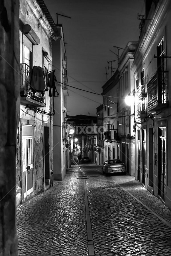 Old and Lonely. by Eugénio Buchinho - City,  Street & Park  Street Scenes ( street, city lights, night )