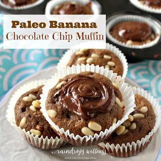 Paleo Banana Chocolate chip Muffins