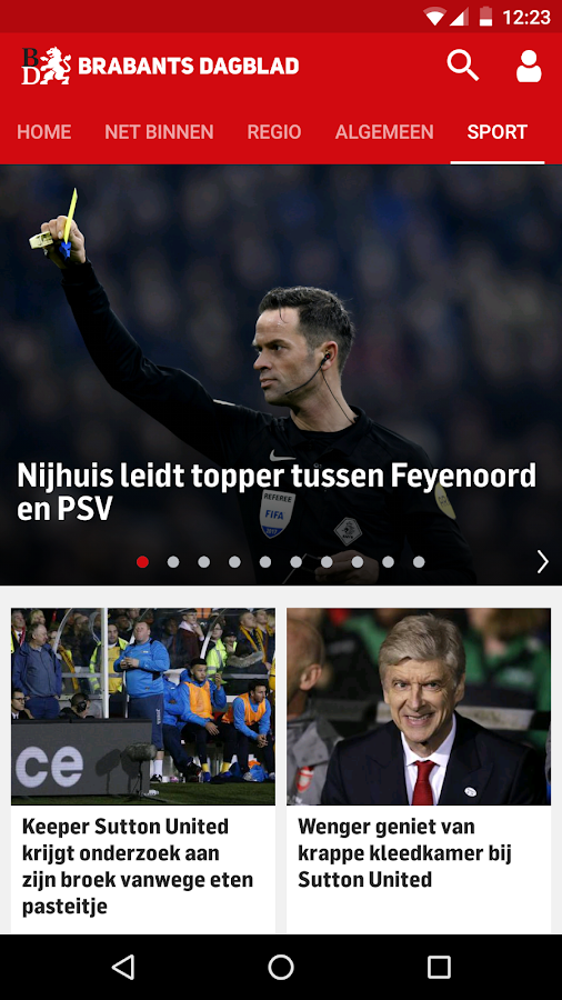 Brabants Dagblad Nieuws: screenshot