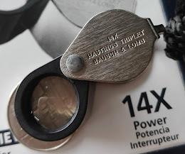 ของแพง หายาก 14x แท้ๆ ของแท้ made in USA แท้ ตัวรุ่นเก่า หายาก ที่หากัน เลนส์ใสกริ๊บ วัดใจ 10 บาท กล้องส่องพระ BAUSCH & LOMB 14Xรุ่นเก่าพร้อมถุงกำมะหยี่เดิมๆ+กล่องกระดาษเดิม