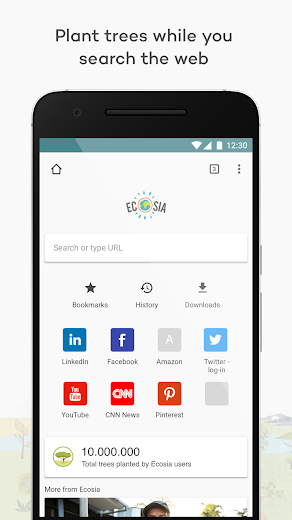 Screenshot 0 for Ecosia's Android app'