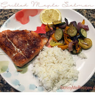 Grilled Maple Salmon.