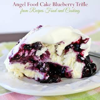 Angel Food Cake Blueberry Trifle.