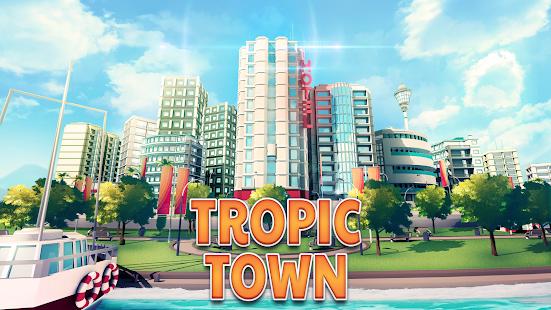 Tropic Town Island City Bay Paradise Escape Sim v1.0.1 APK + MOD (Unlimited Money)