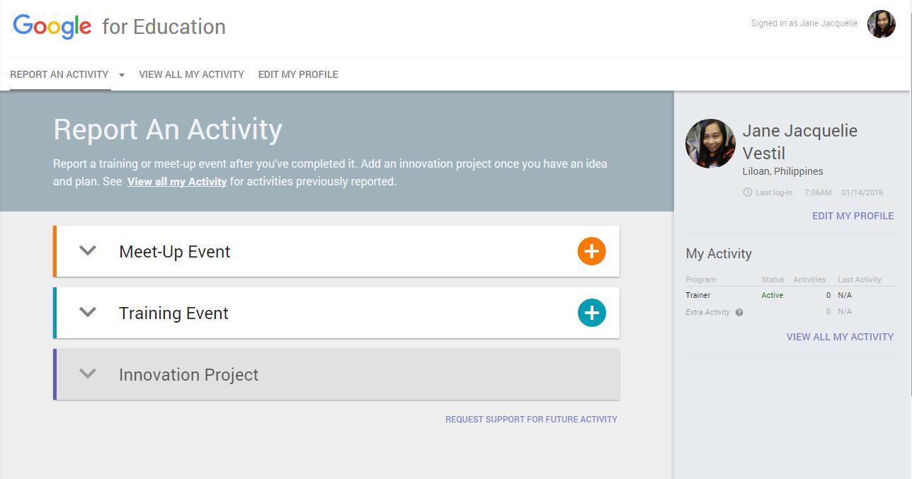 Google announces the google for education activity app xflitez Image collections