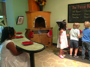 Photo: the other kids start making pizza