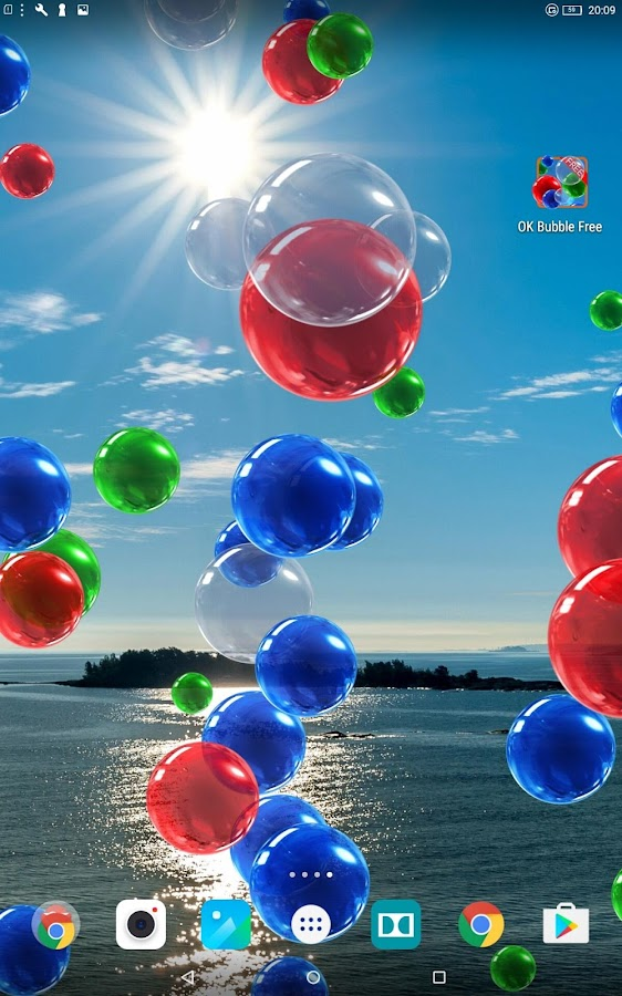 OK Bubble Live Wallpaper Free- screenshot