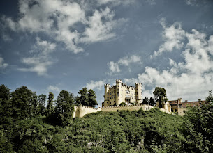 Photo: Schloss Hohenschwangau  Hohenschwangau Castle is a 19th century palace in Bavaria. It was the childhood residence of King Ludwig II also known as a Swan King. He was a devoted patron of the composer Richard Wagner.  #historythursday +History Thursday