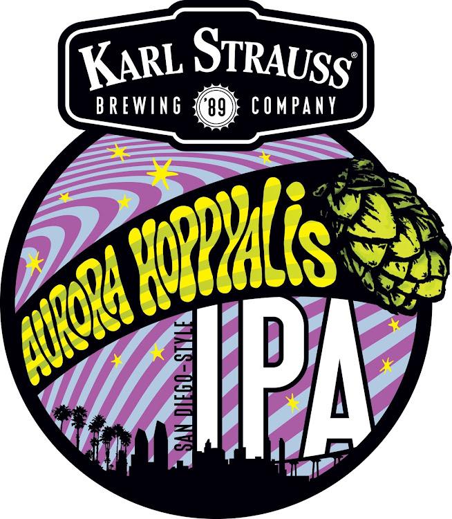 Logo of Karl Strauss Aurora Hoppyalis San Diego-style IPA