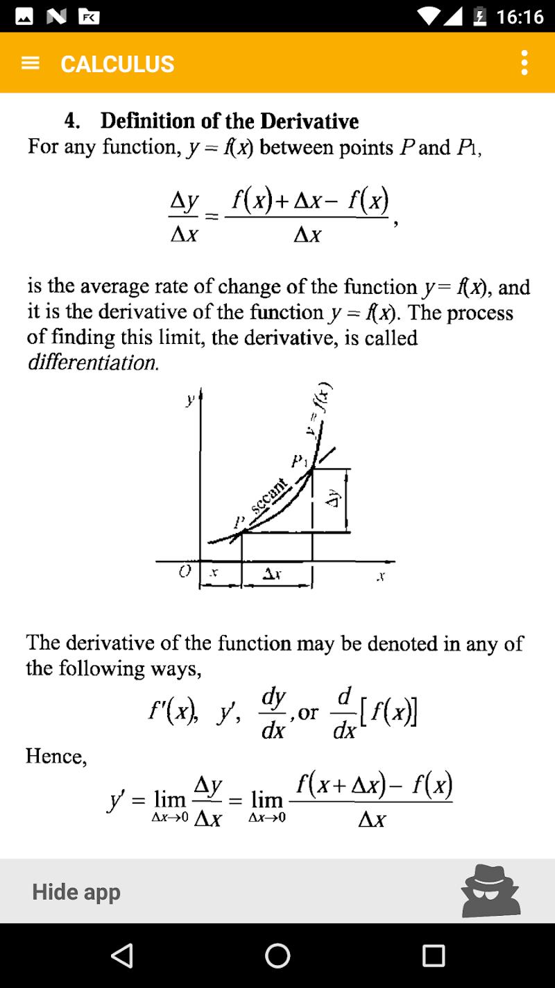 Math - complete pocket guide Screenshot 3