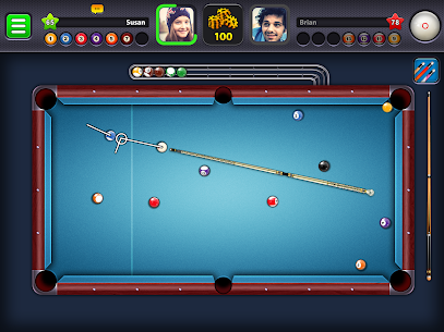 8 Ball Pool Mod Apk 5.2.1 (Long Lines + Stick Guideline + No Ads) 9