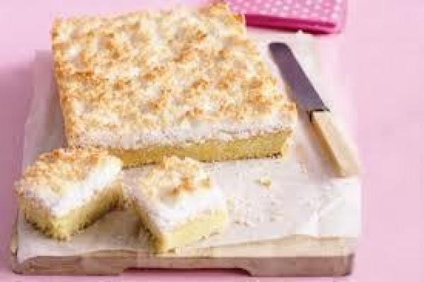 Lemon Passionfruit Coconut Slice Recipe