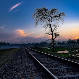 by Mamunur Rashid - Transportation Railway Tracks