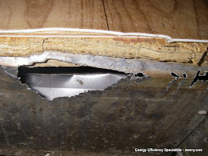 Photo: Duct work has significant holes
