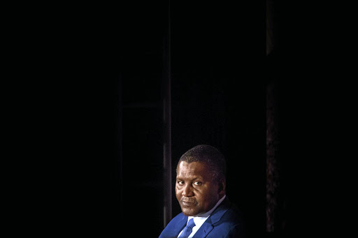 Cement tycoon Aliko Dangote has emerged as the biggest threat to 125-year-old PPC. Picture:  GETTY IMAGES