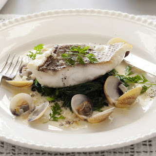 Red Snapper and Clams with Chervil Sauce.